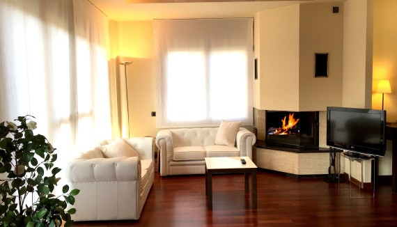 Room Size 50 M2 25 Living With Fireplace Bed 1 Double